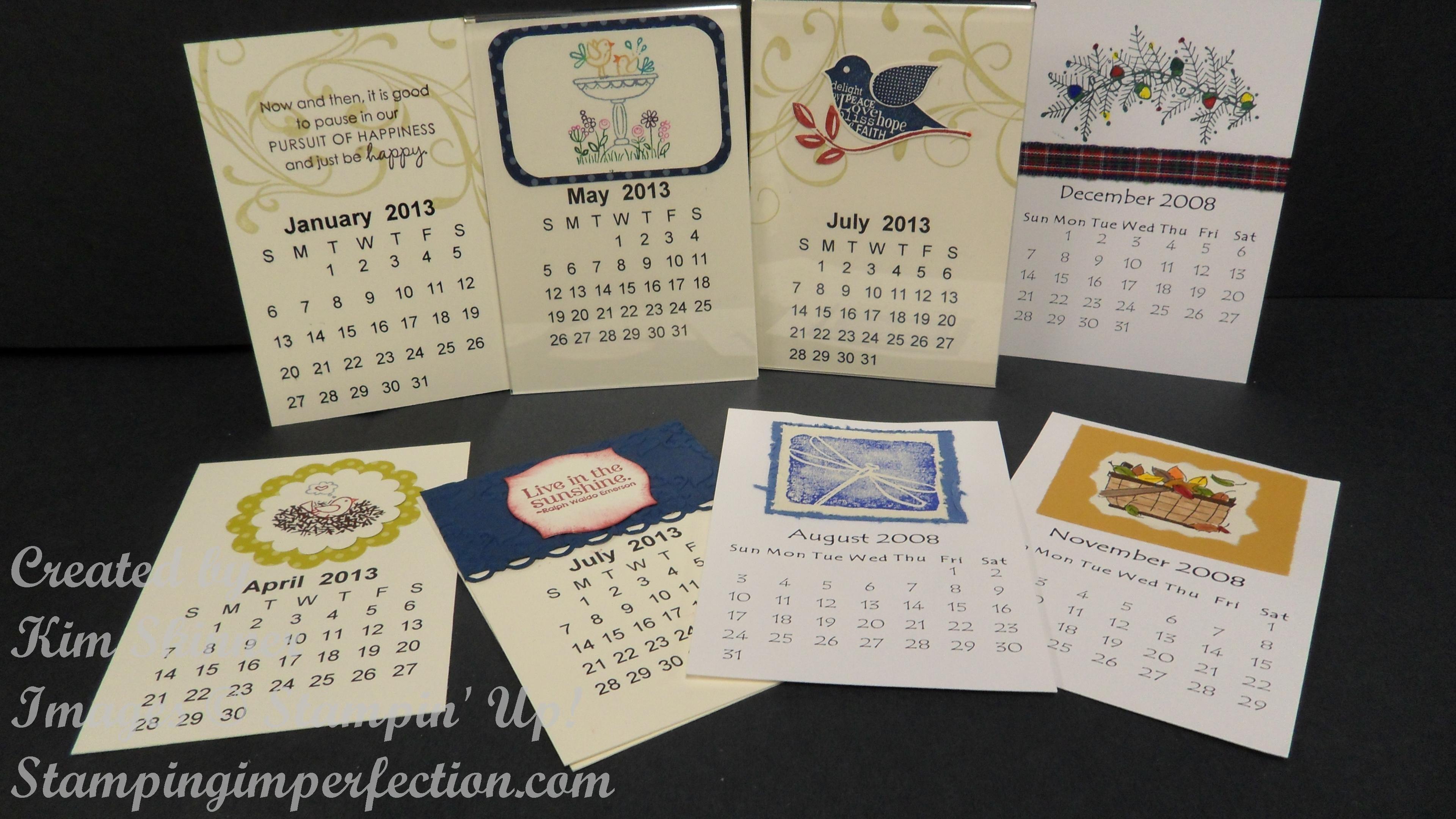 Ideas for small calendar!