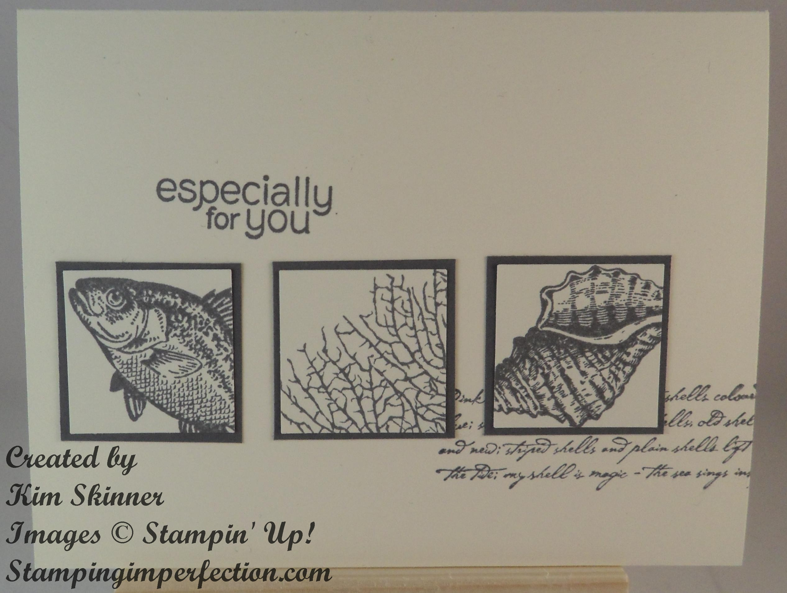 stampin up casing a card by the tide