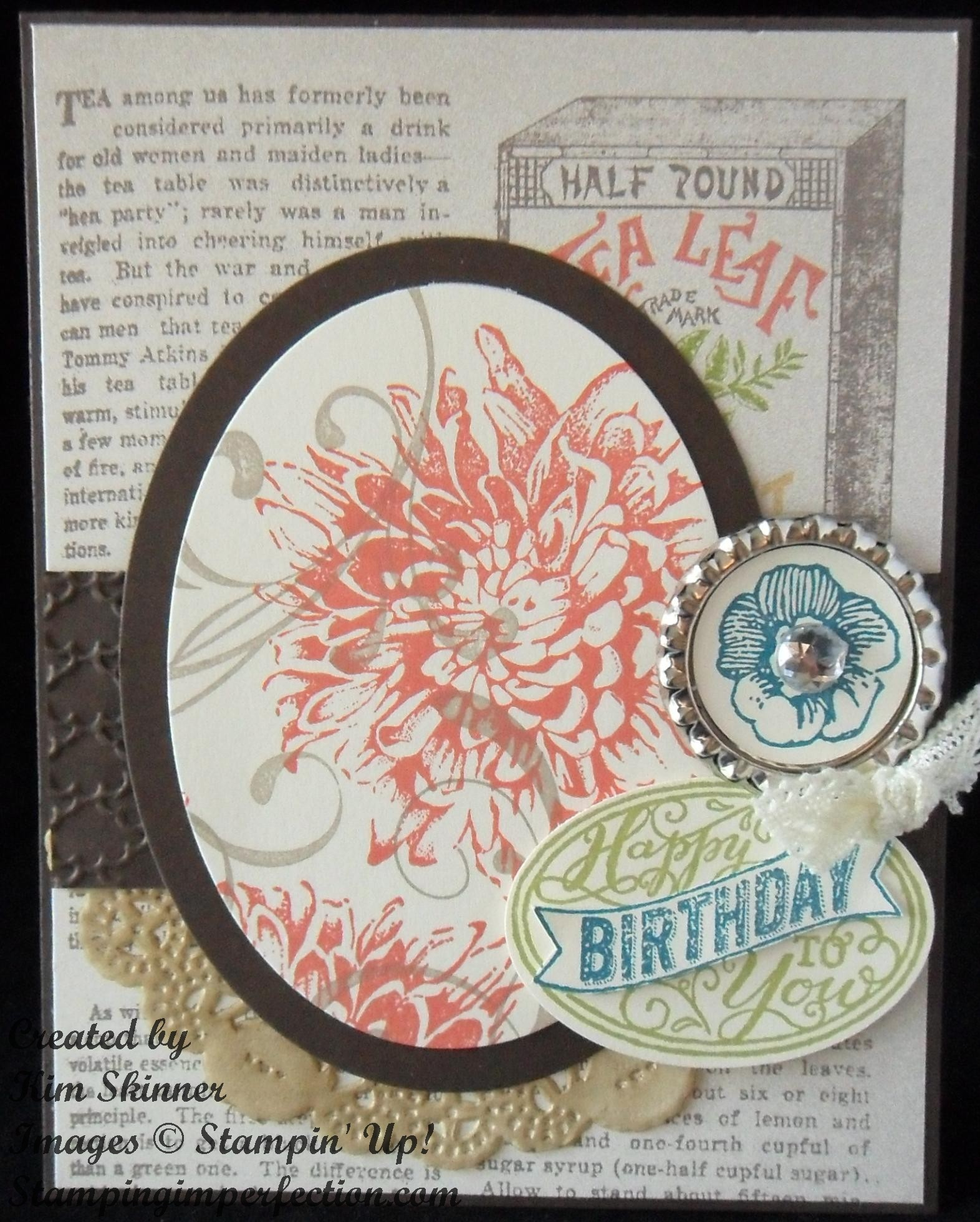 Why I LOVE Stampin' Up! With Giant Graphic Flowers!