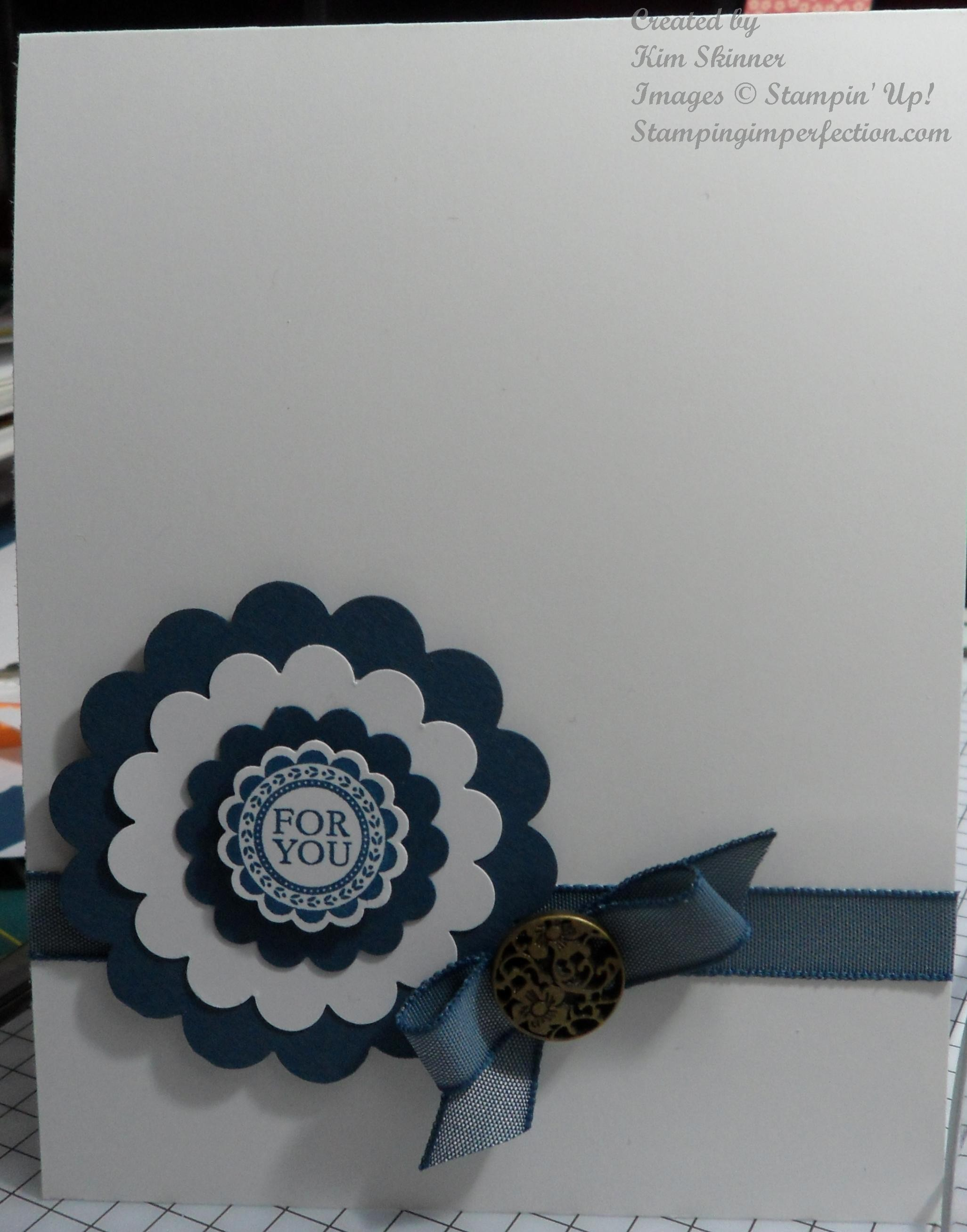 Clean, Simple and Quick Handmade Card with Stampin' Up!