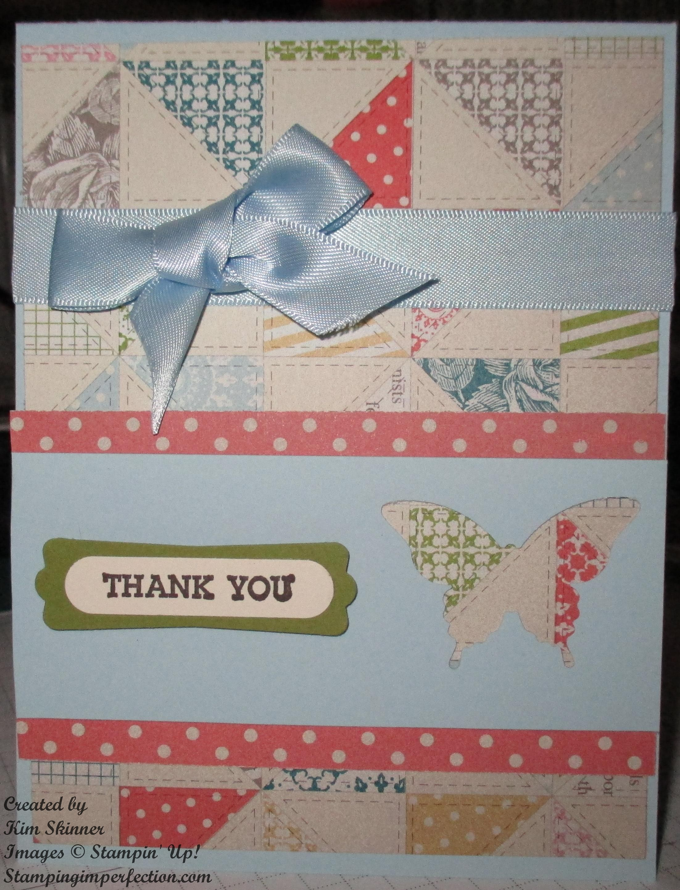Quick and Easy Thank You Card with Stampin' Up!