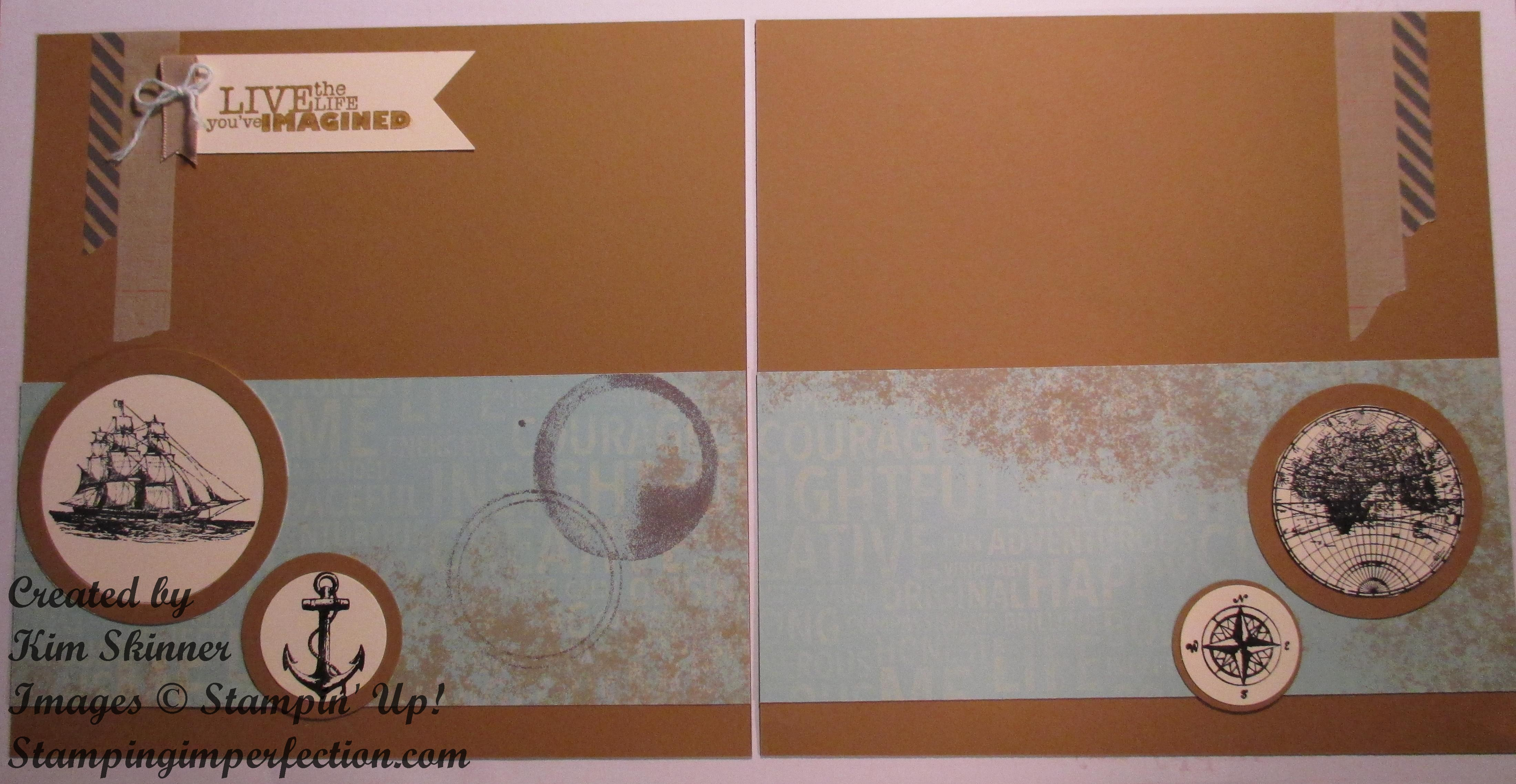 Stamping and Scrapbooking Sunday Series: Masculine Layout By the Sea