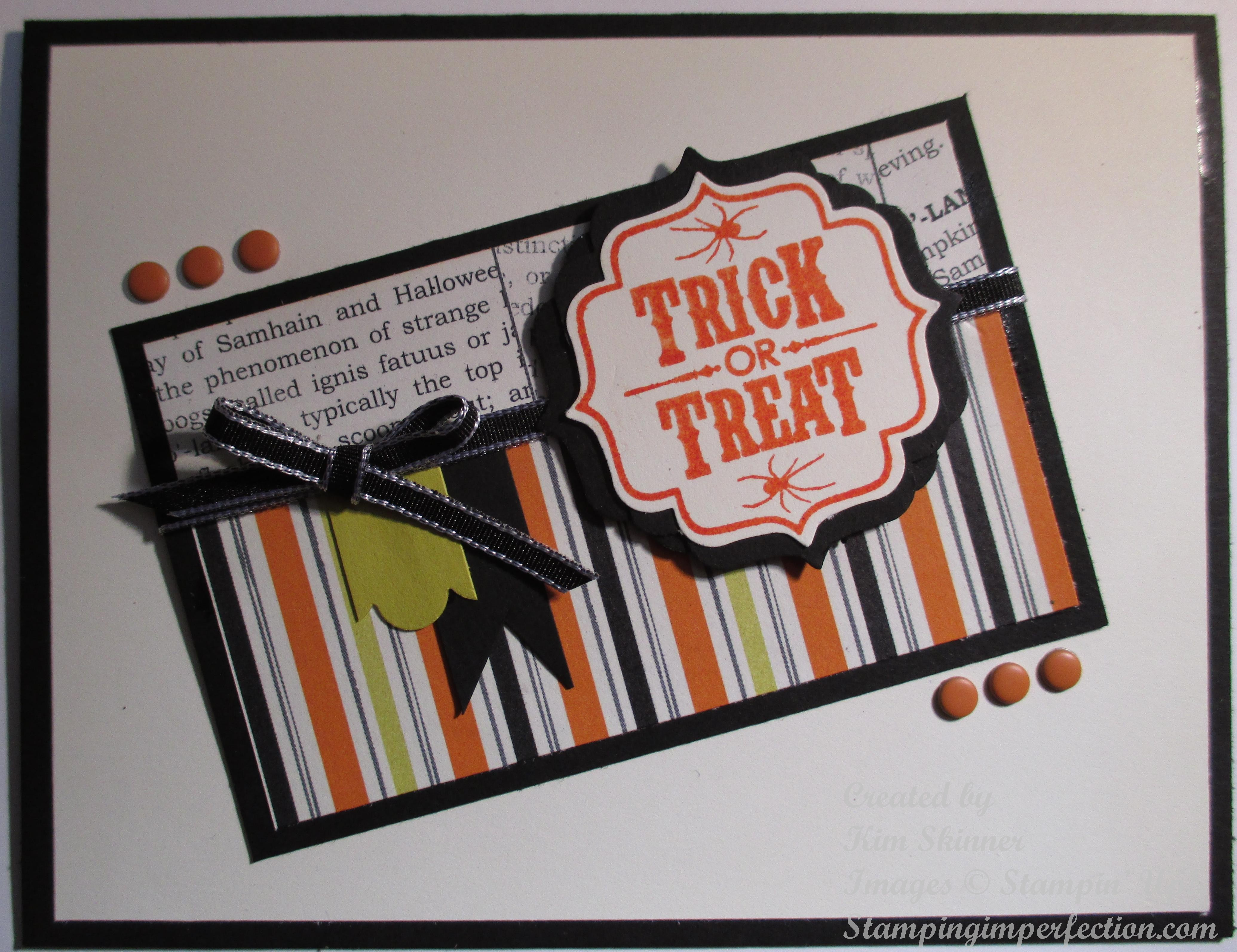 stampin' up trick or treat
