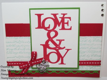 quick and easy love & joy card