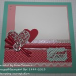 true love scrapbook layout