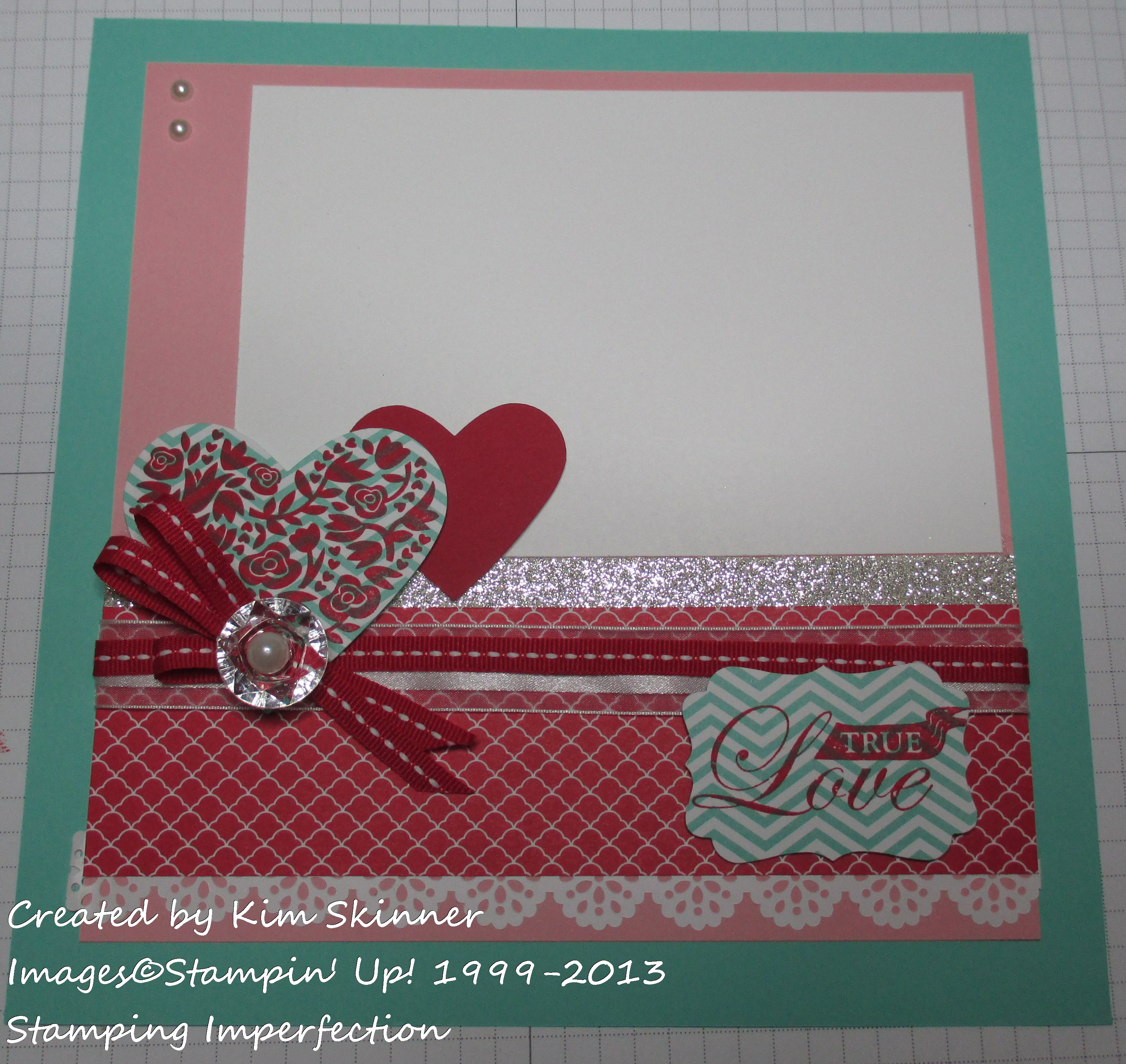 true love scrapbook layout