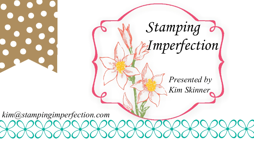 Perfectly imperfect ideas for hand stamped cards, scrapbooking and paper crafts.