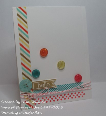 quick card with trendy touches