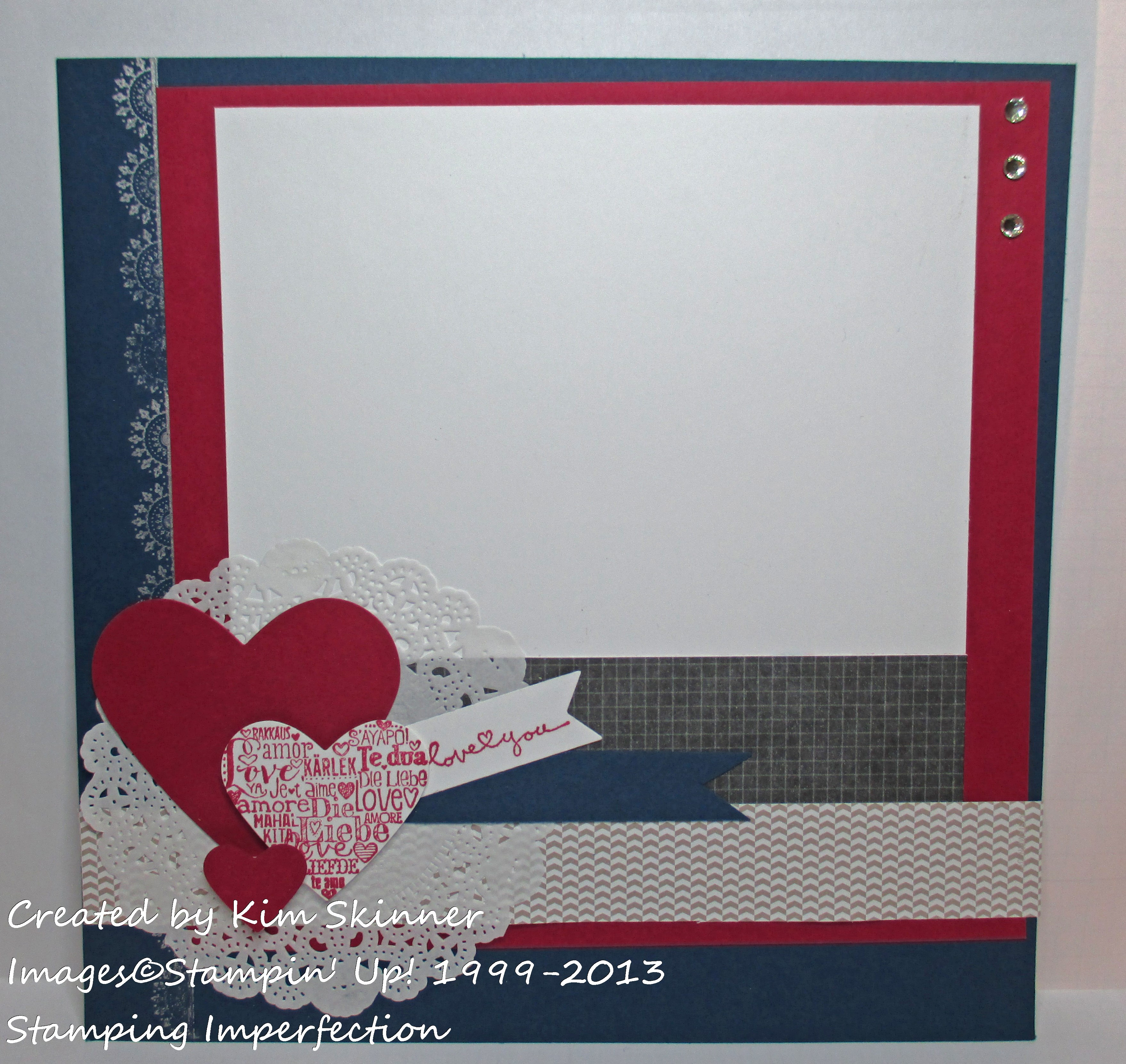 stamping imperfection scrapbook layout