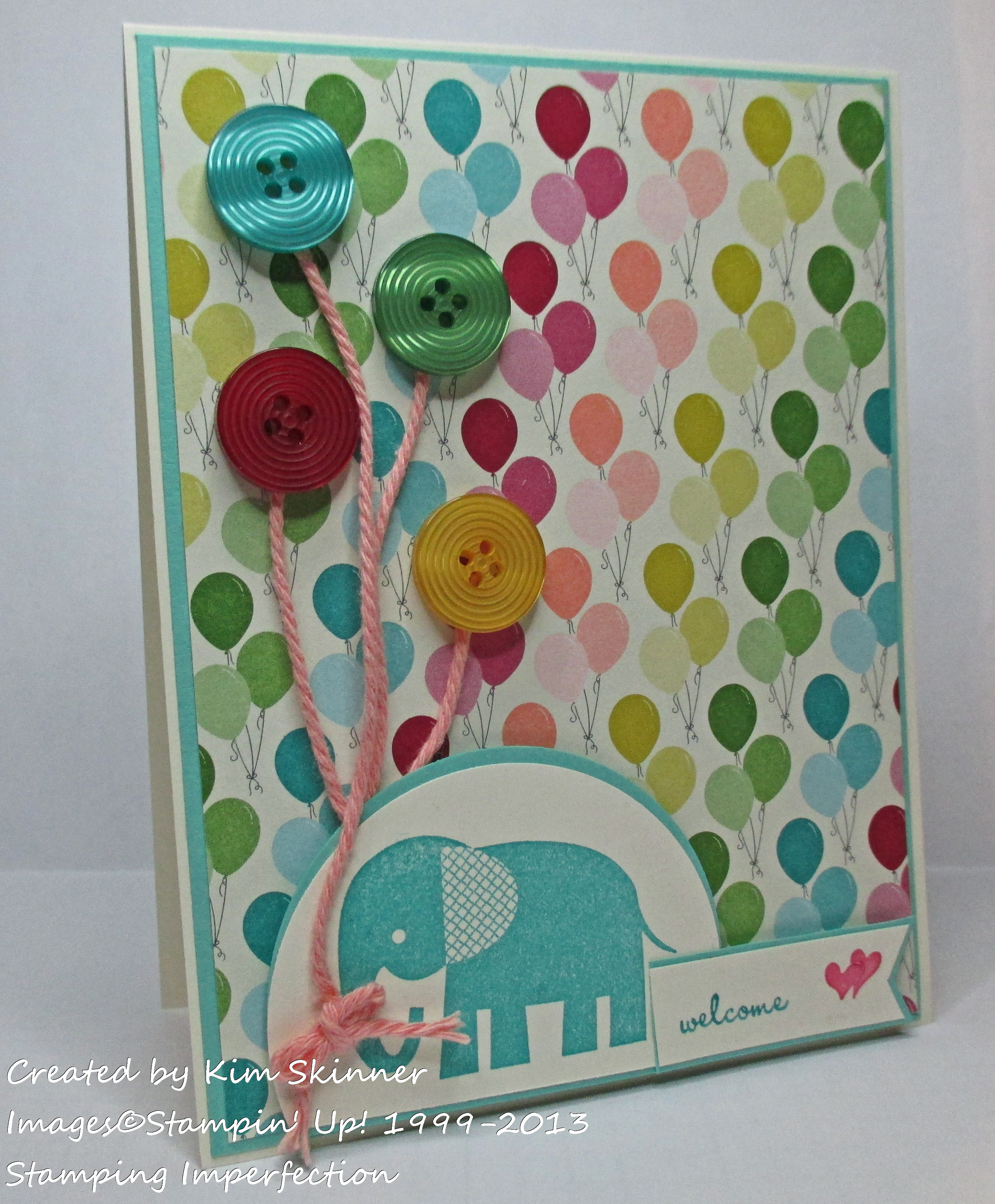 Stamping Imperfection Children's Card