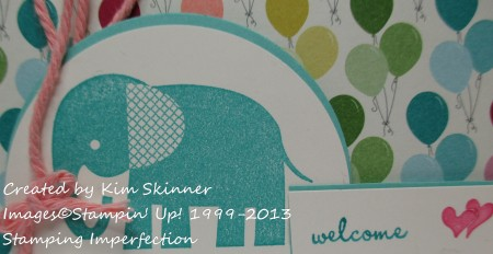 Stamping Imperfection children's birthday
