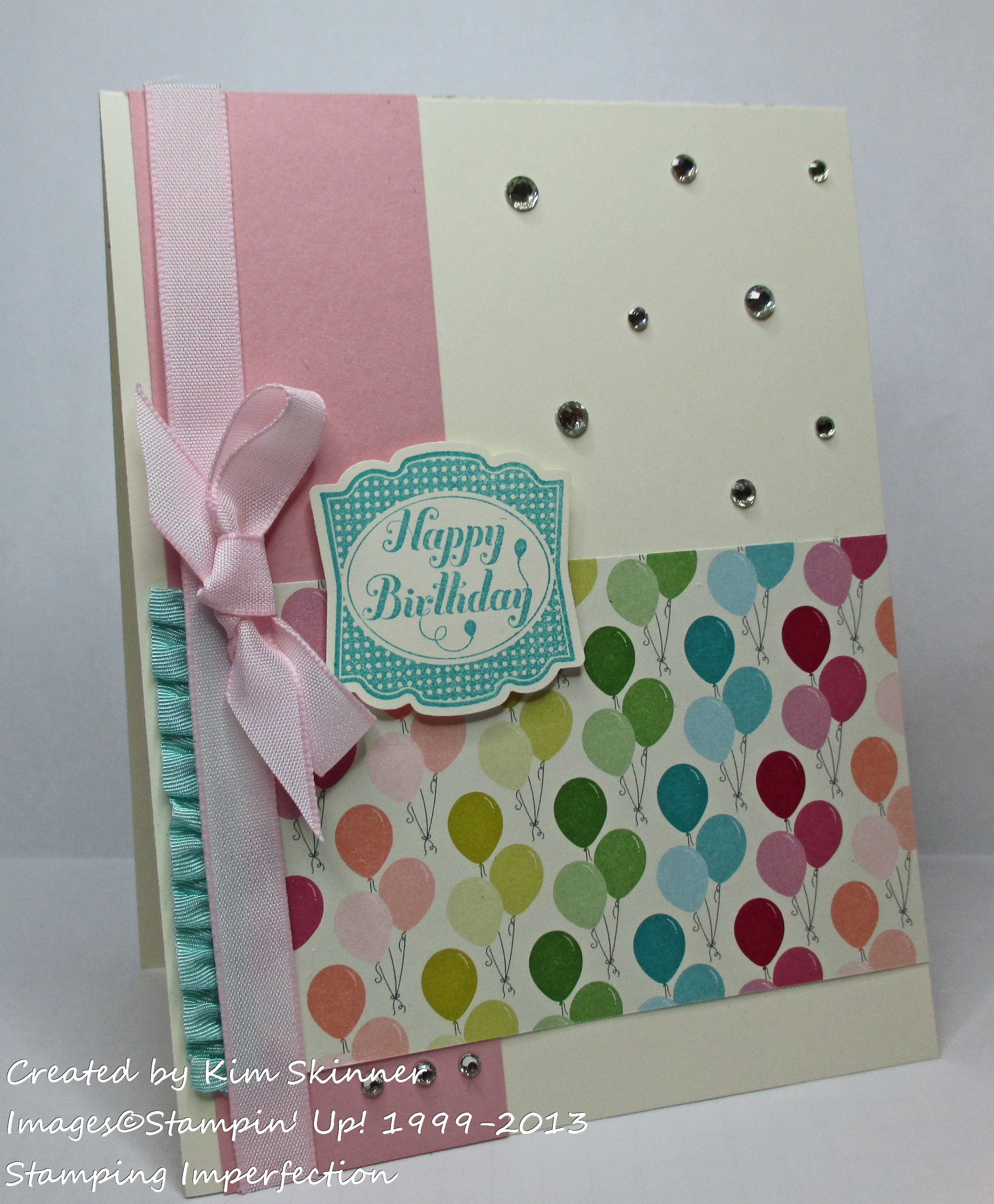 Stamping Imperfection 3 card elements