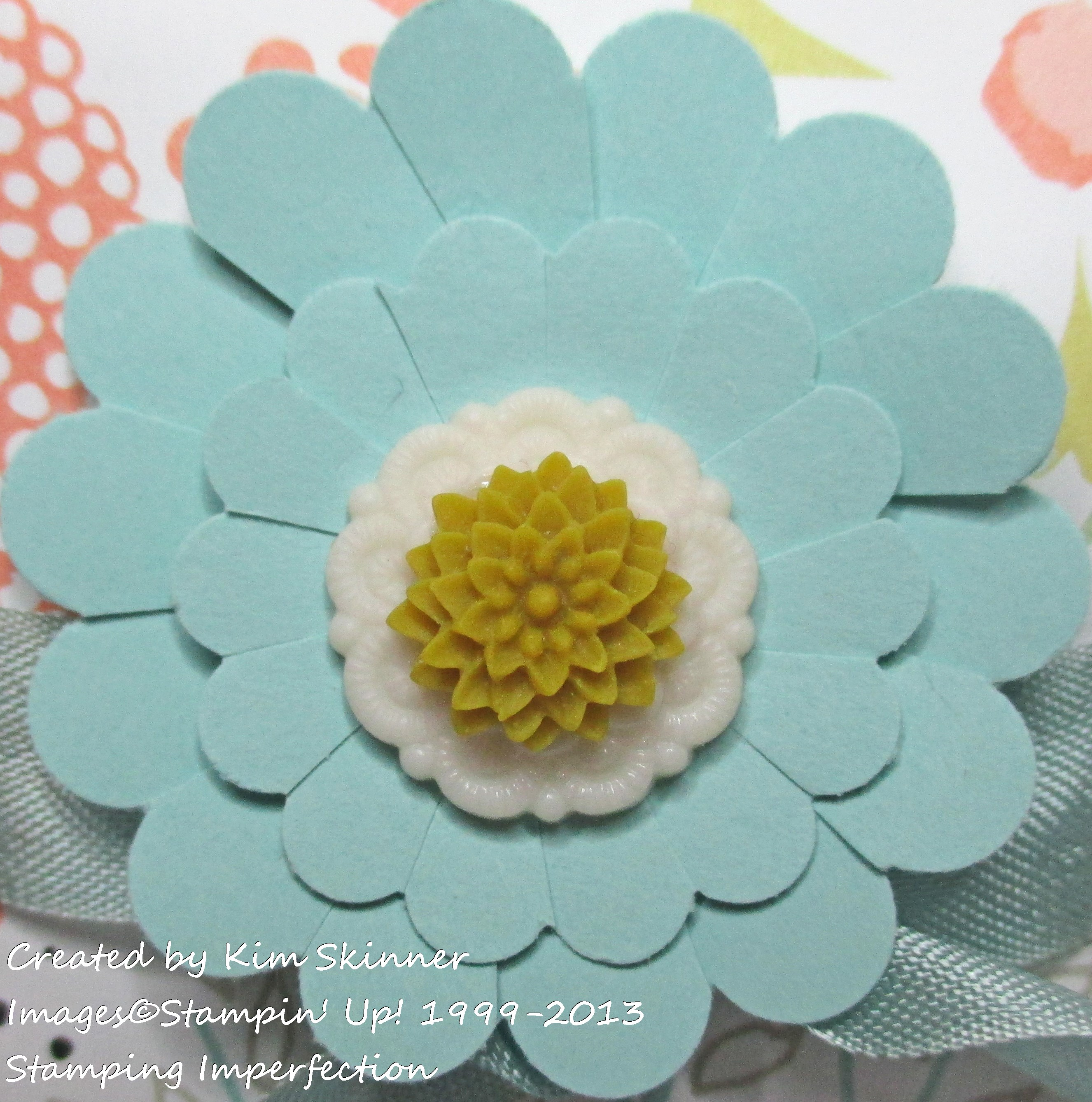 Stamping Imperfection treat box flower with video tutoria.