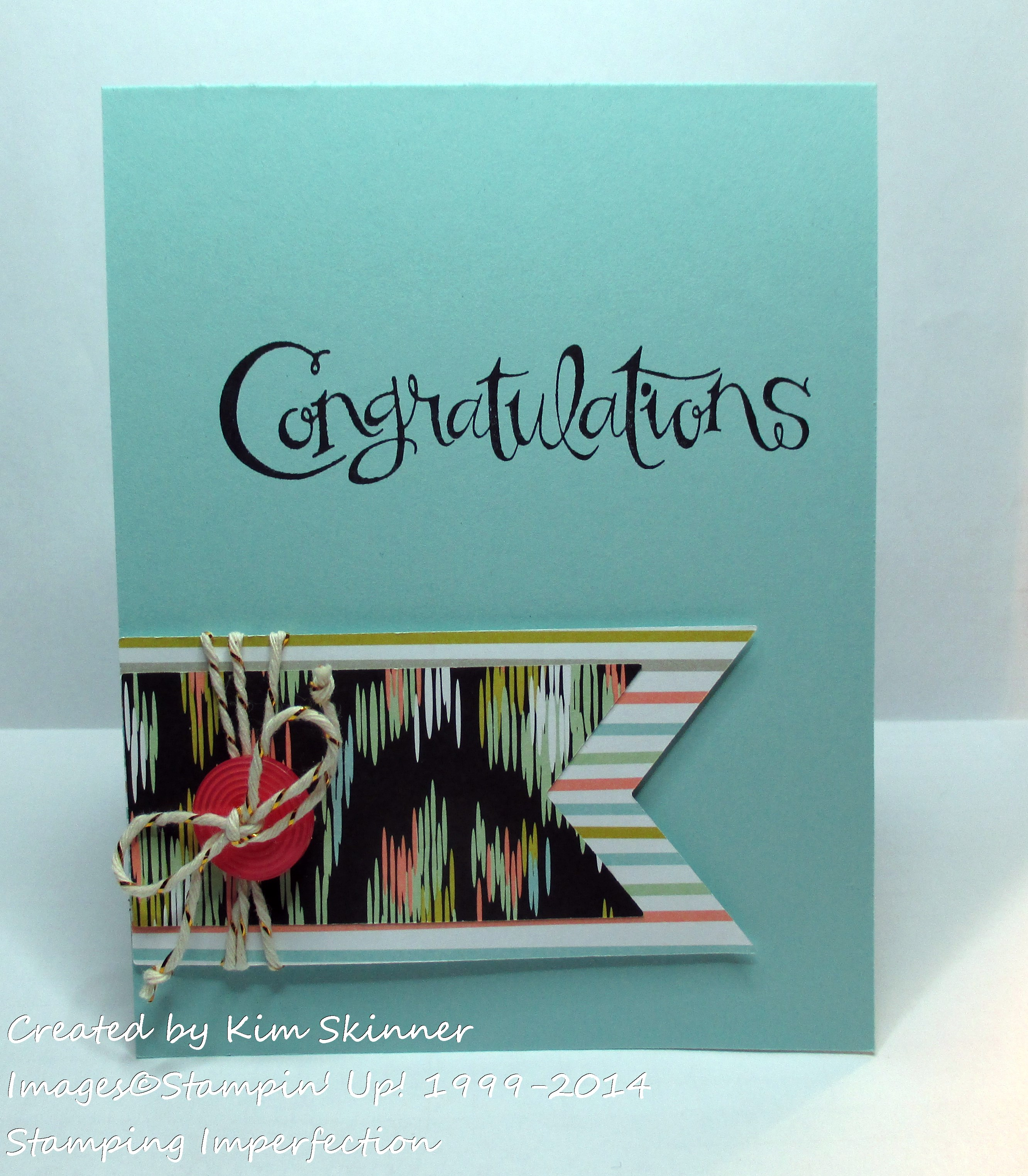 stamping imperfection quick and easy card