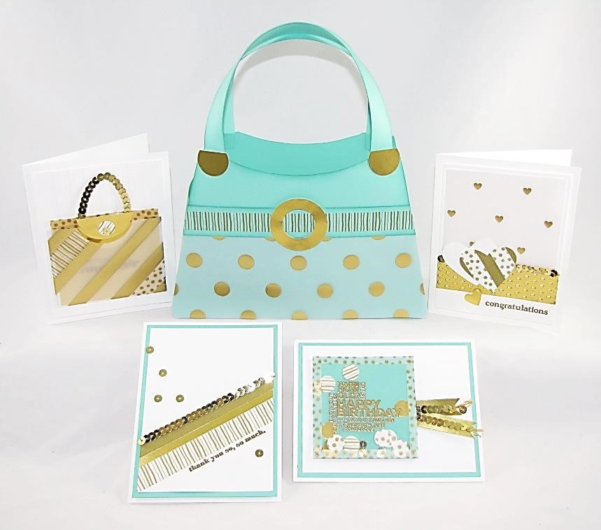 stamping imperfection gold and glitz class