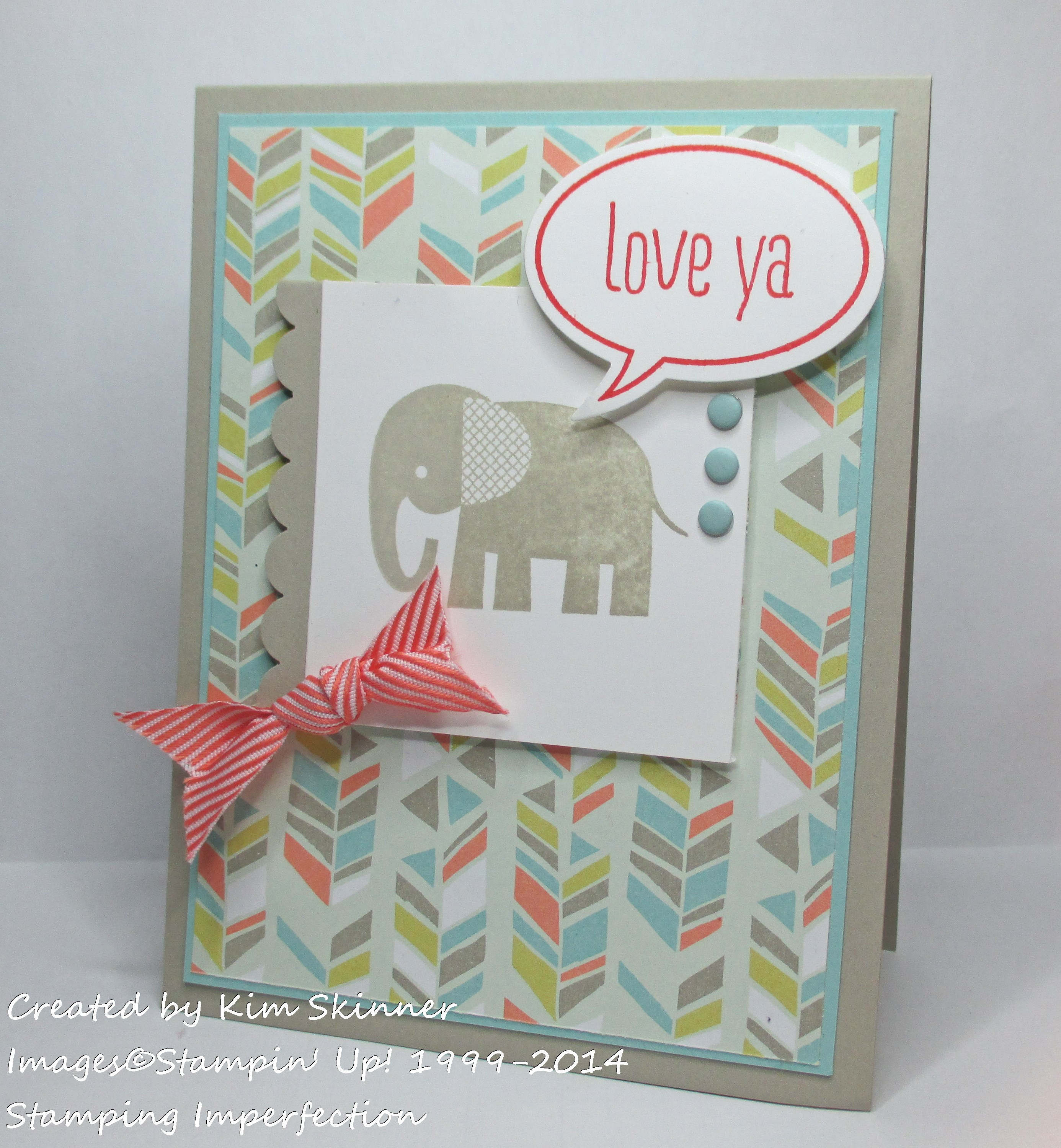 stamping imperfection kid card