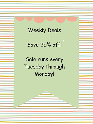 Weekly Deals 25% Off