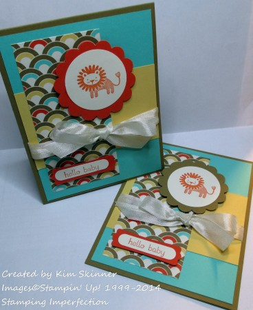 stamping imperfection baby card