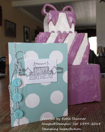stamping imperfection handmade birthday