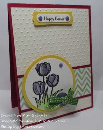 stamping imperfection make the easter cards
