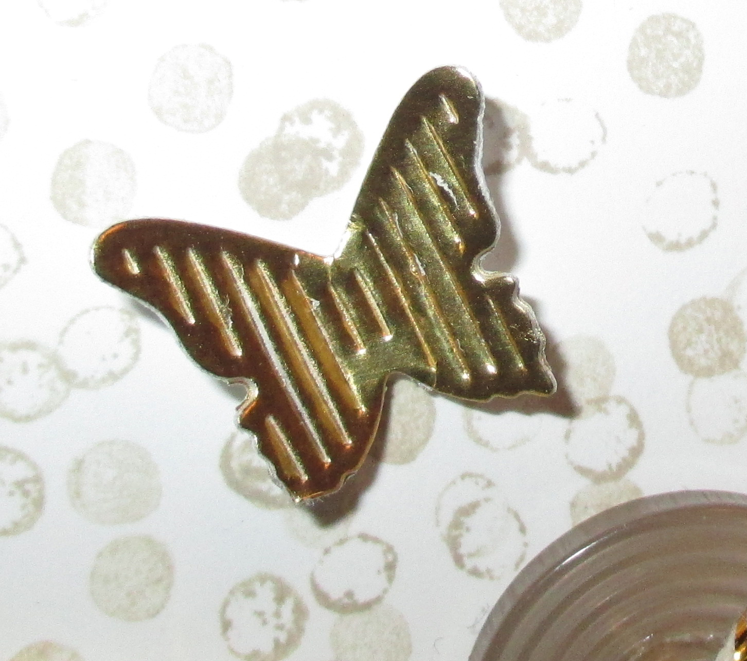 stamping imperfection gold butterfly
