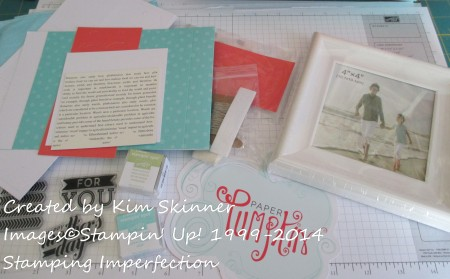 Stamping Imperfection frame projects