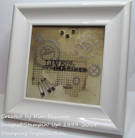stamping imperfection framed project