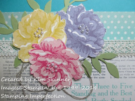 stamping imperfection stippled blossoms