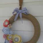 stamping imperfection spring wreath
