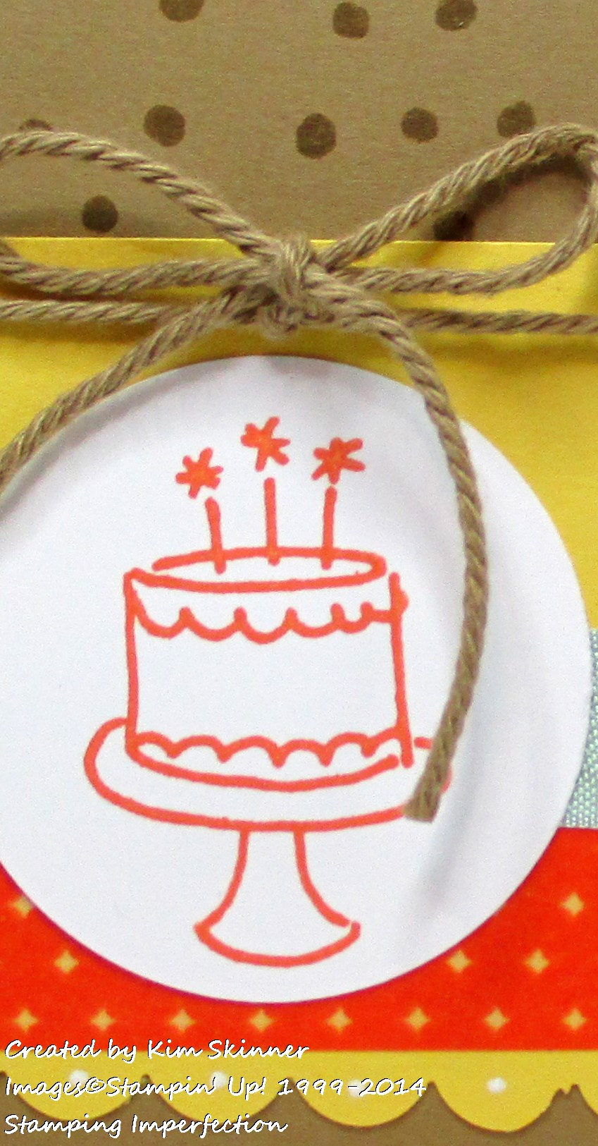 Endless Birthday Wishes:  New Photopolymer Stamp