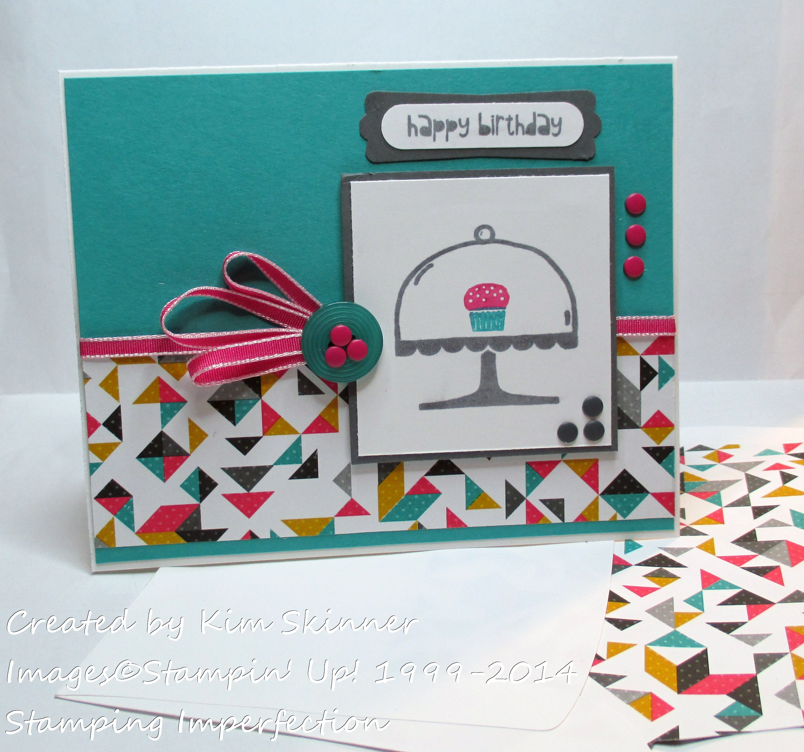 stamping imperfection colorful birthday