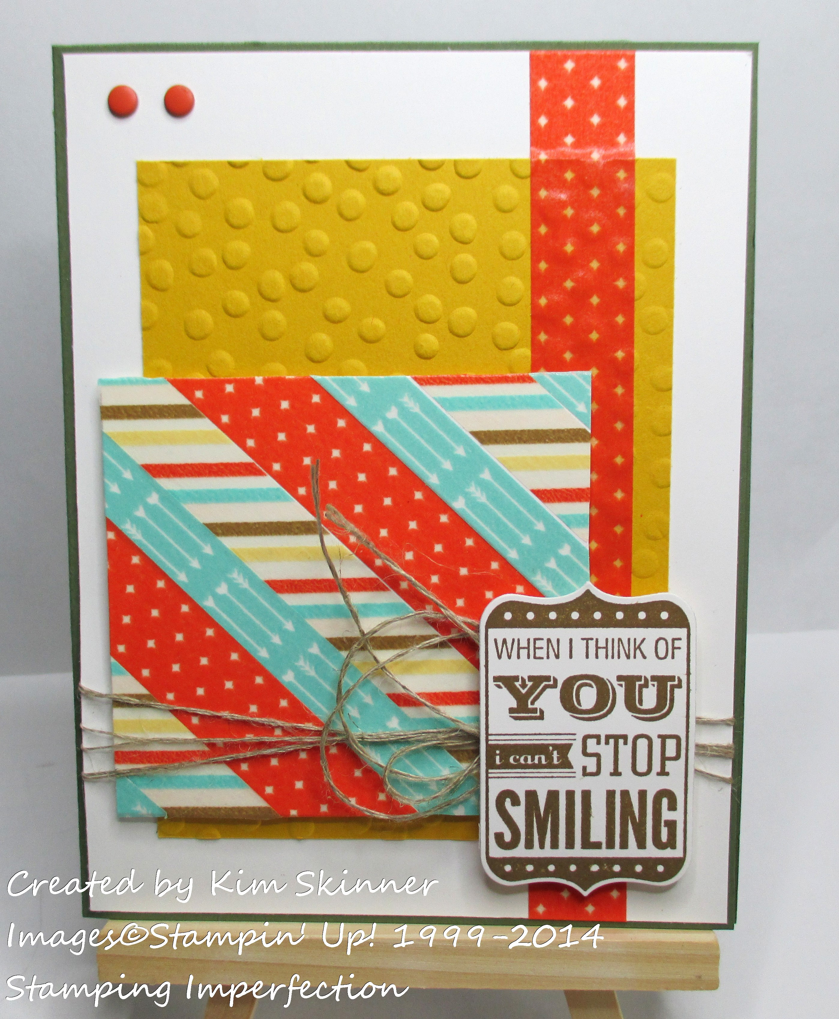 stamping imperfection washi tape quick card