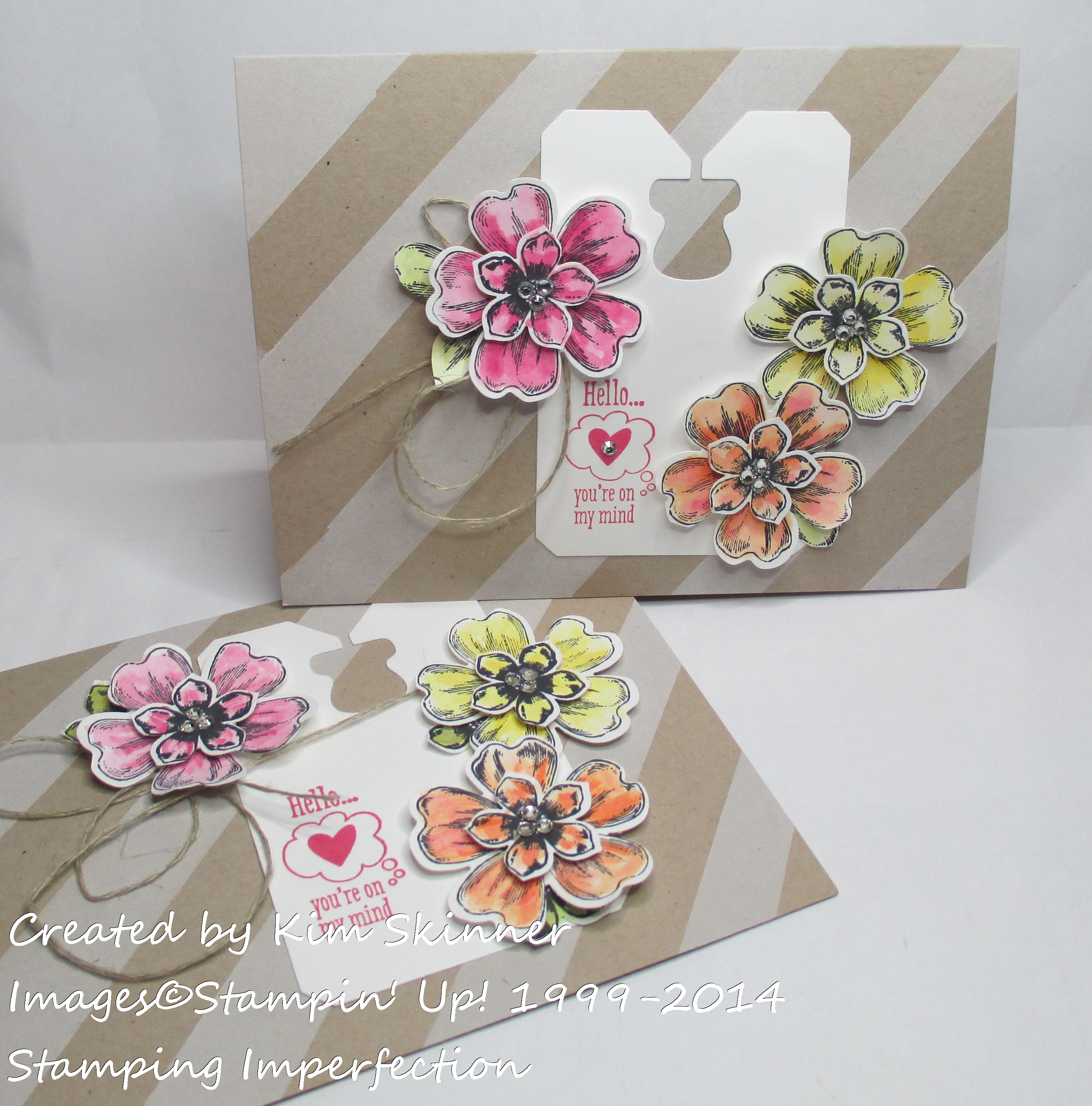 Stamping Imperfection Striped Background