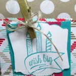 stamping imperfection gusseted gift bags