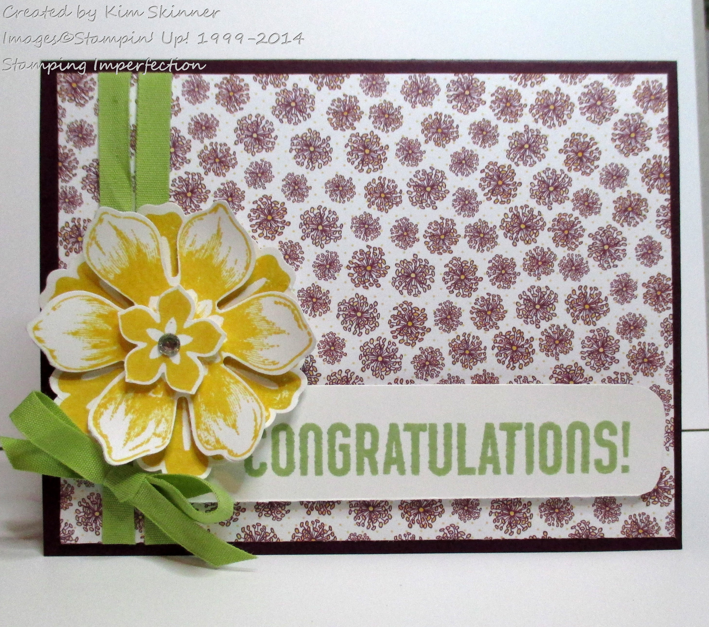 Park Lane Designer Paper With A Fabulous Floral Accent!