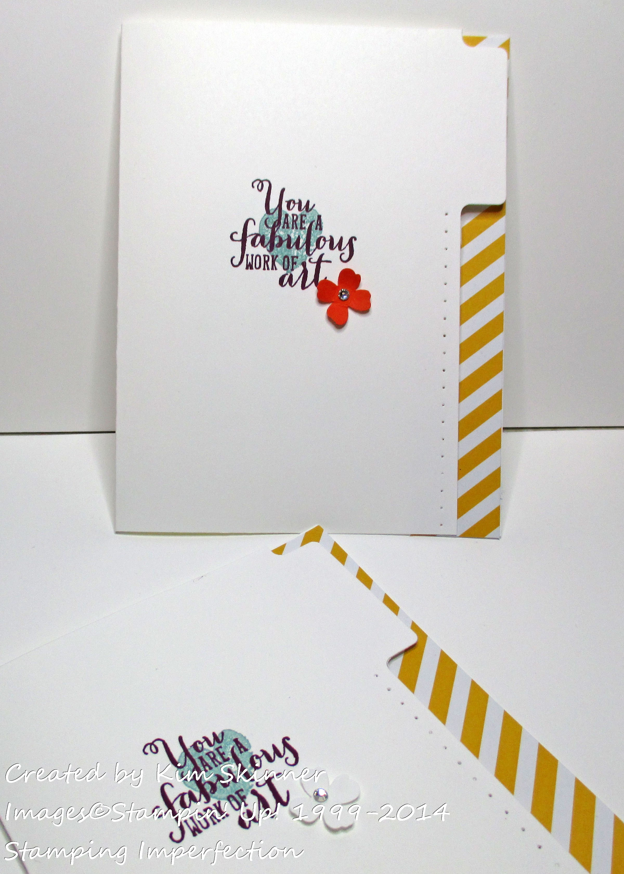 stamping imperfection file tab card