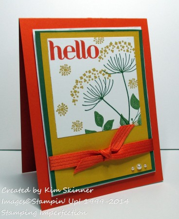 stamping imperfection make a hello silouhette