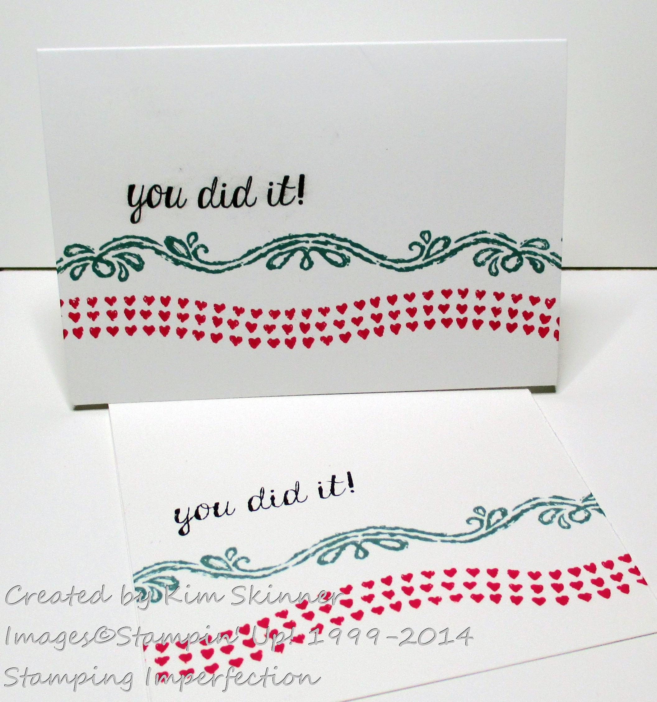 Stamping Imperfection clean and simple one layer card +video quick tip