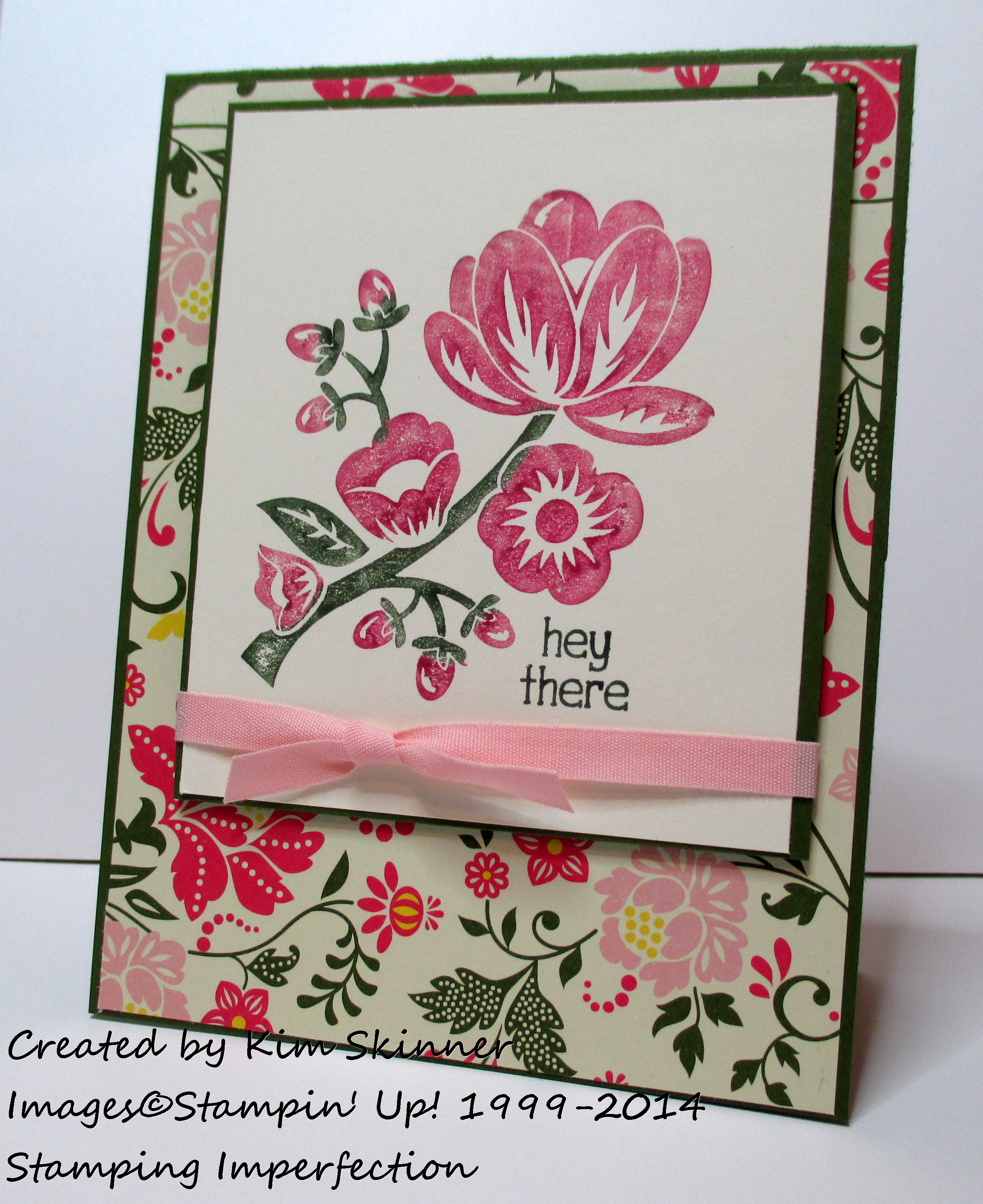 Stamping Imperfection: What to do with busy designer paper + video tutorial and free printable card recipe
