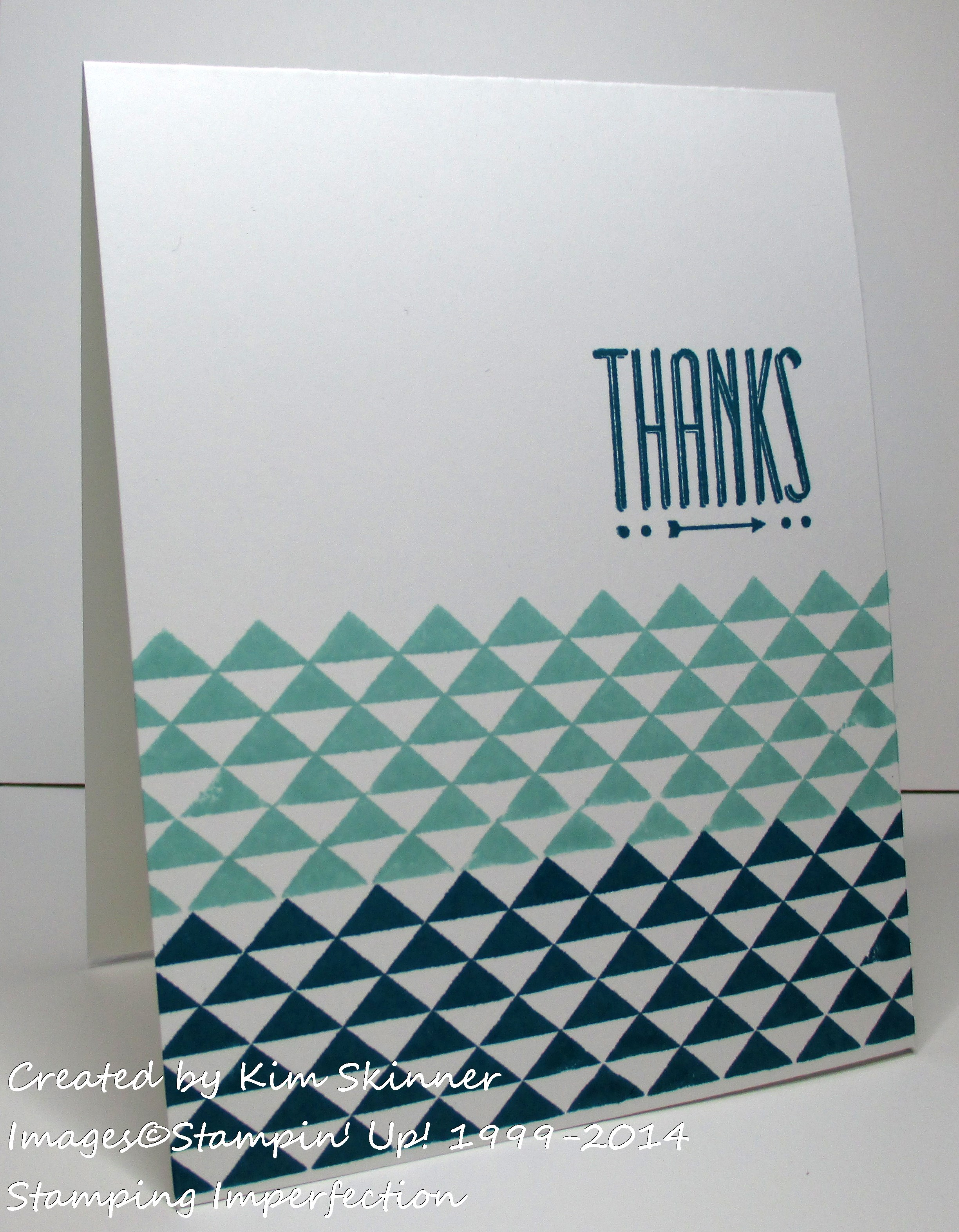 Stamping Imperfection super simple card for any occasion!