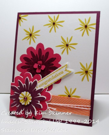 Stamping Imperfection creating outside my comfort zone: Flower Patch and Flower Flair bundle