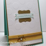 Stamping Imperfection create outside my comfort zone: Curly Label Punch, Bitty Banner Framelits and chevron ribbon