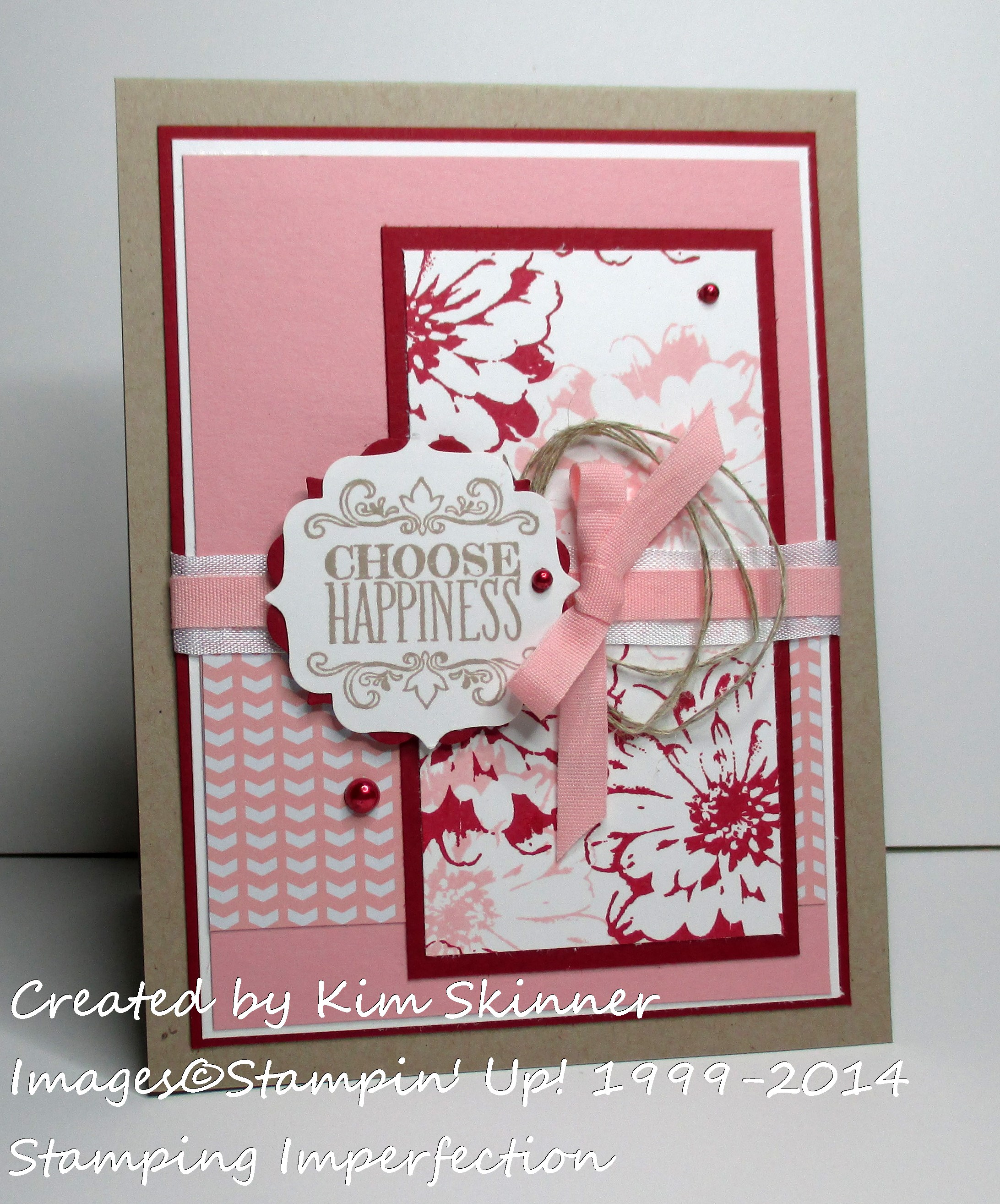 Stamping Imperfection Choose Happiness