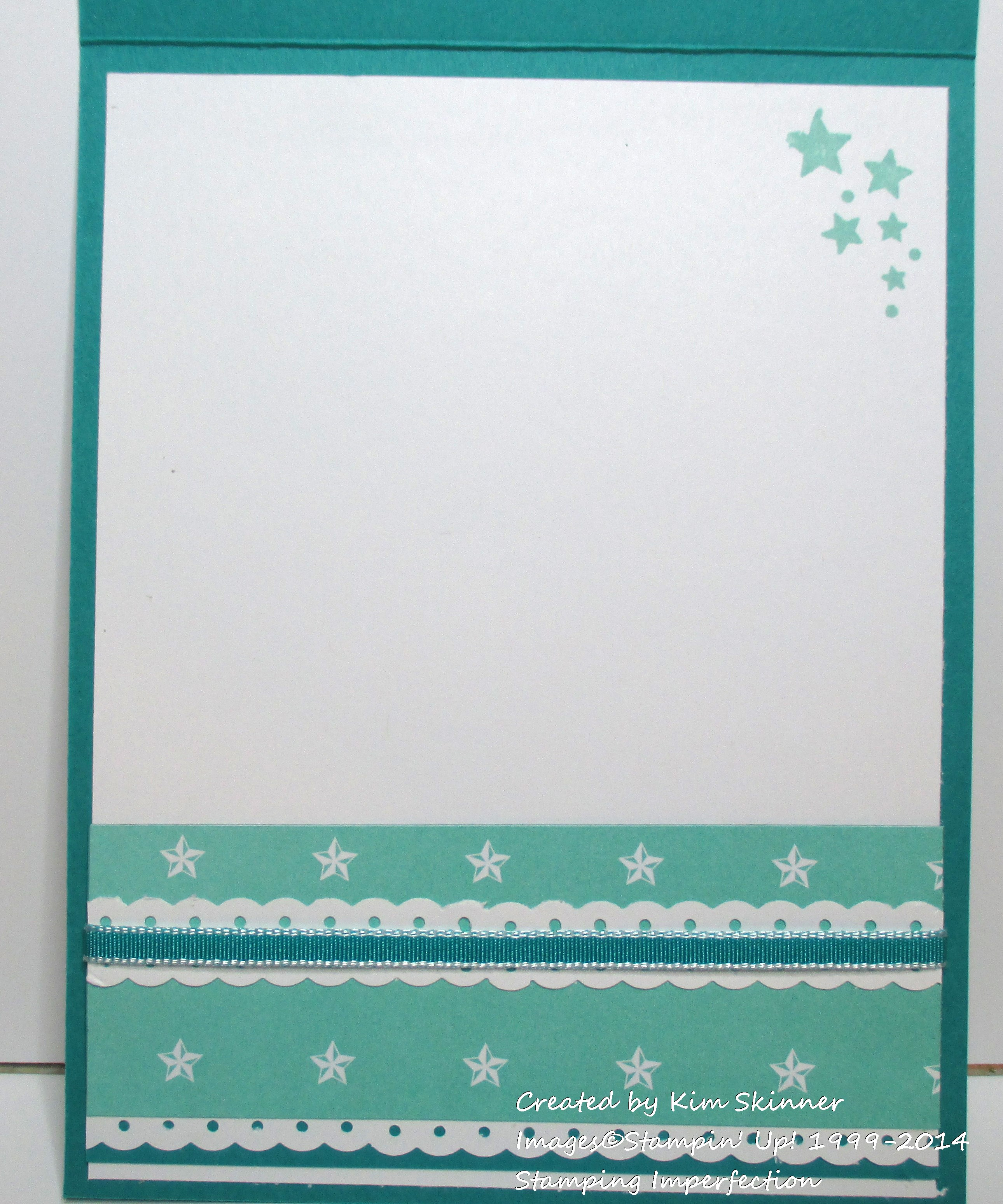 stamping imperfection dotted scallop ribbon border punch ideas