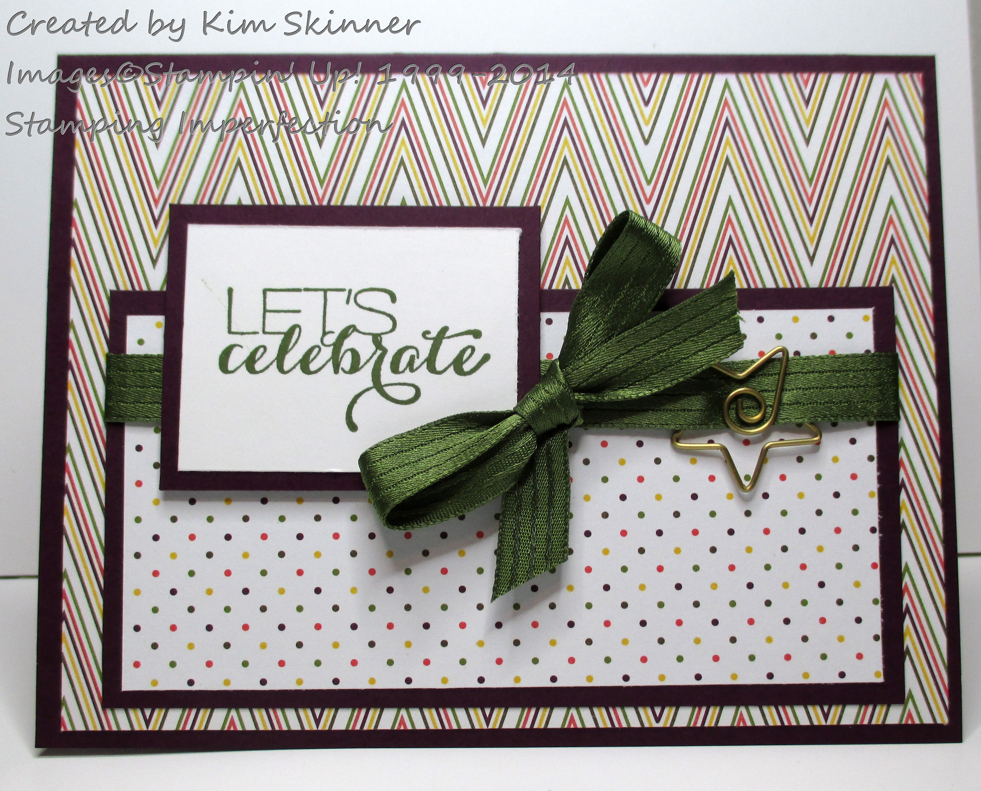 Stamping Imperfection Let's Celebrate