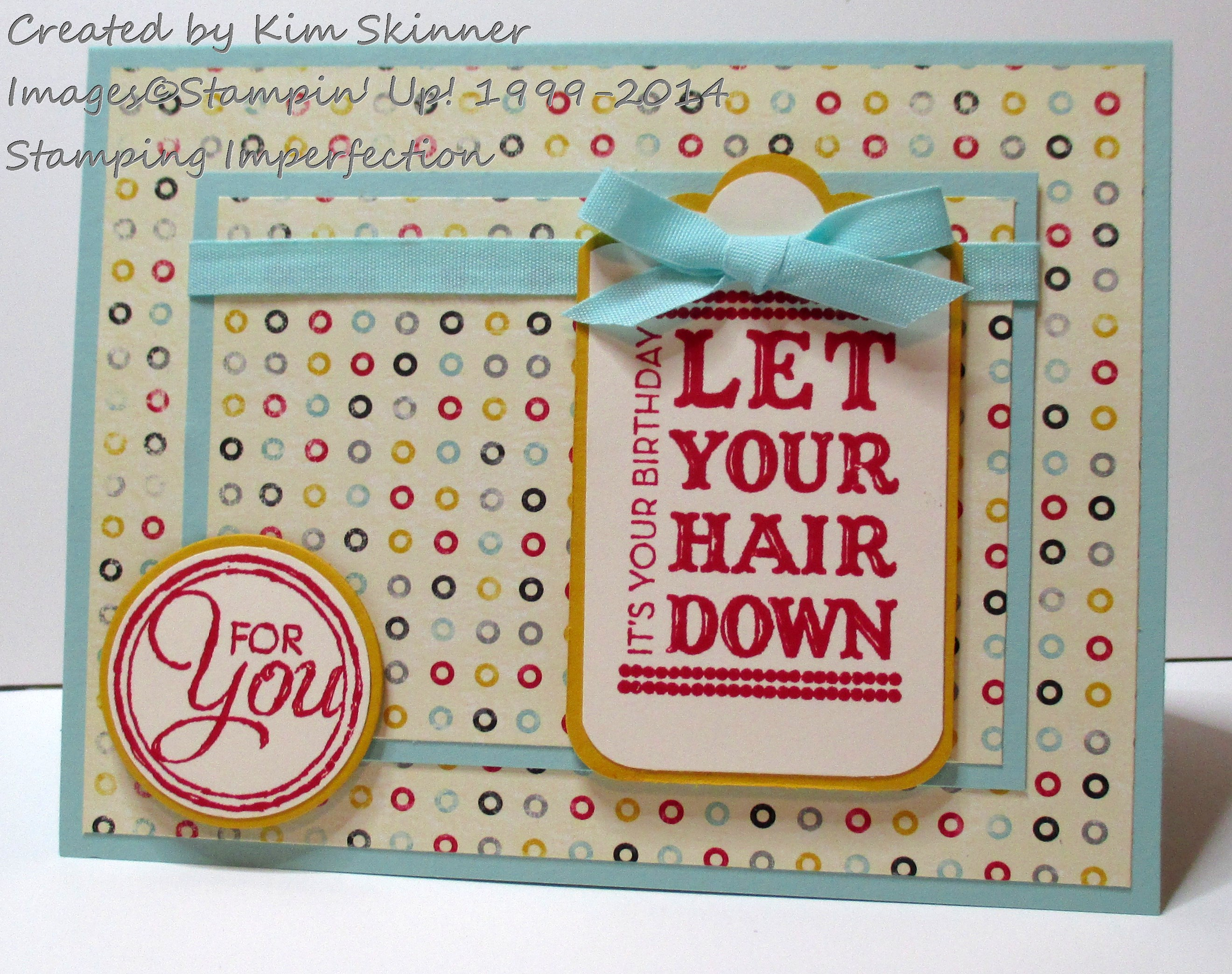Stamping Imperfection Need Inspiration? Start with designer paper!