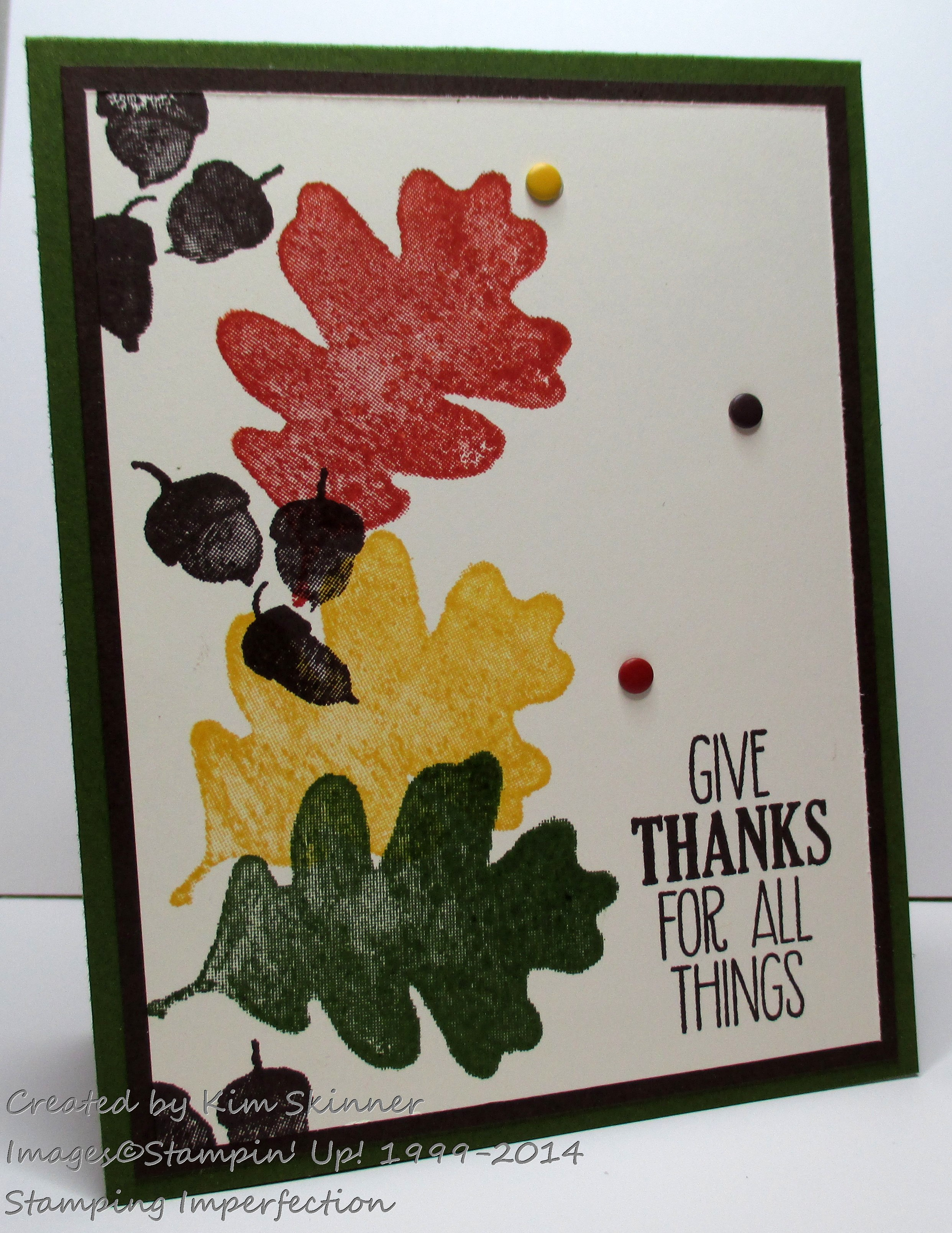 Clean And Simple Fall Card For All Things