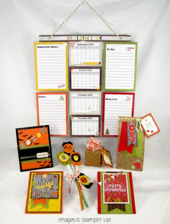 Stamping Imperfection Free Holiday Planner Class with order