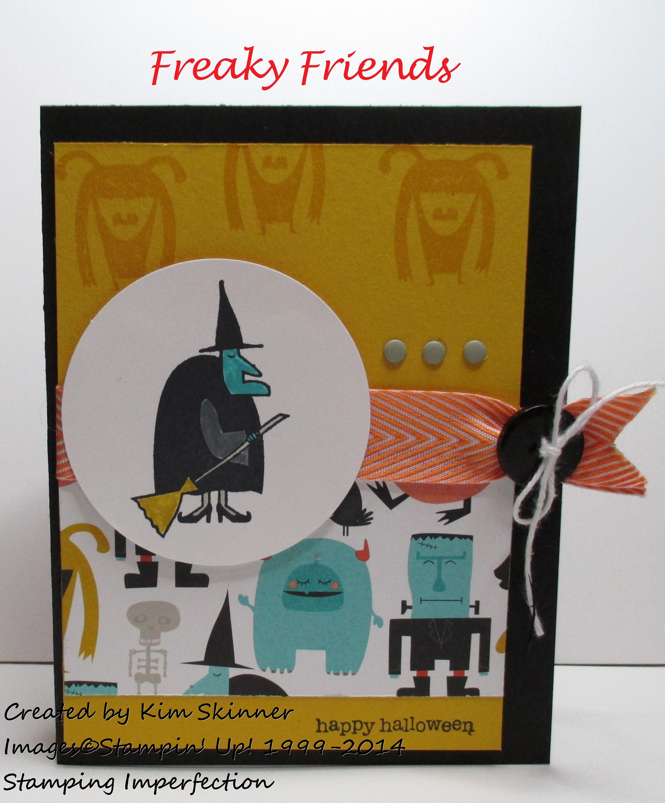 Stamping Imperfection Freaky Friends