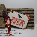 stamping imperfection halloween treat bags